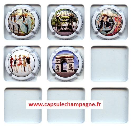 Doppen Verzamelingen Série de 4 Capsules Générique  champagne 2ème Série  LES VIEILLES VAPEURS