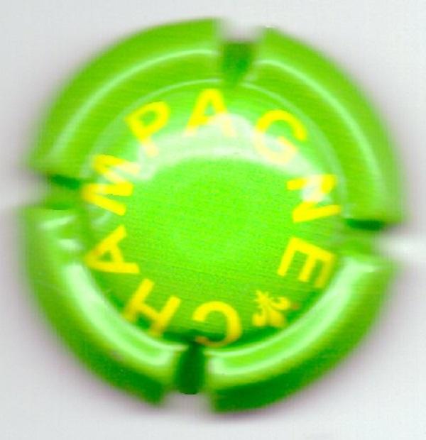 Capsule de champagne ARNOULD Claude Fond vert pâle